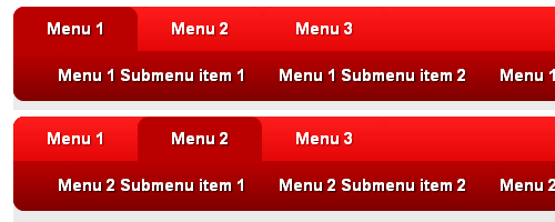 CSS3 horizontal drop line tab menu