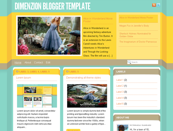 Dimenzion Blogger Template