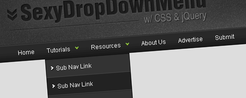 Sexy Drop Down Menu jQuery & CSS