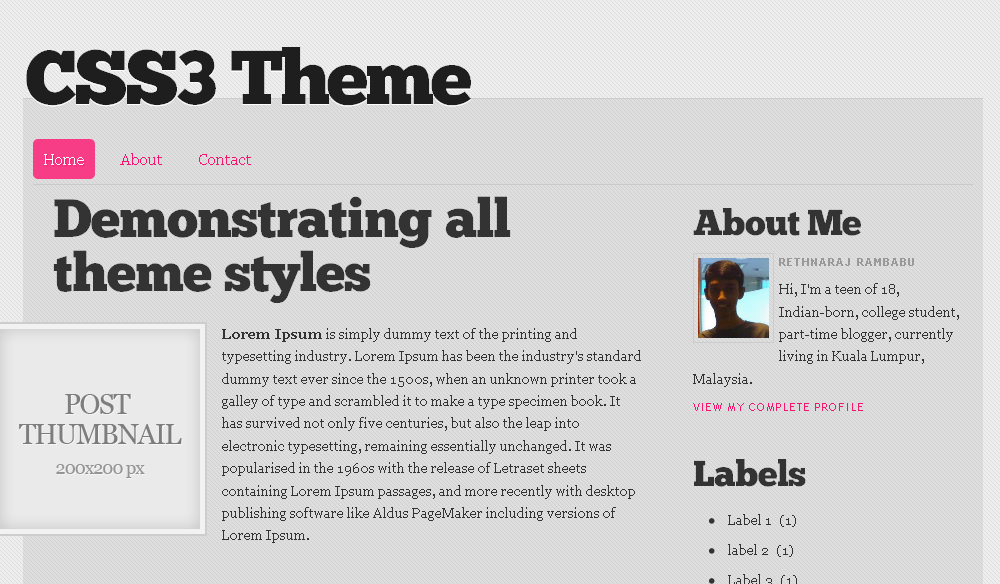 CSS3 Theme Blogger Template by Blogger Bits